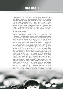 Water Drops in Black And White Word Template, Second Inner Page, 09547, Nature & Environment — PoweredTemplate.com