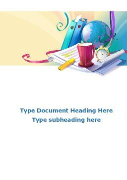Office's Stationery Word Template, Cover Page, 09550, Business — PoweredTemplate.com