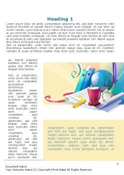 Office's Stationery Word Template, First Inner Page, 09550, Business — PoweredTemplate.com