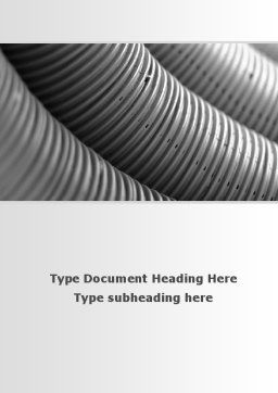 Corrugated Pipes Word Template, Cover Page, 09552, Careers/Industry — PoweredTemplate.com