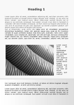 Corrugated Pipes Word Template, First Inner Page, 09552, Careers/Industry — PoweredTemplate.com