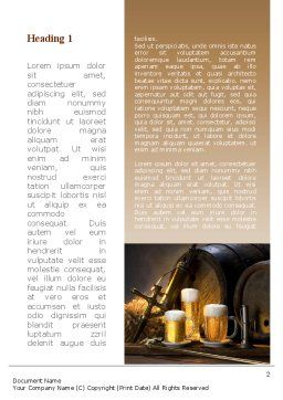 Beer Barrel Word Template, First Inner Page, 09554, Food & Beverage — PoweredTemplate.com