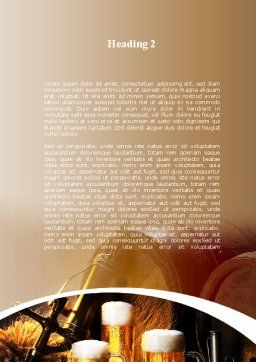 Beer Barrel Word Template, Second Inner Page, 09554, Food & Beverage — PoweredTemplate.com
