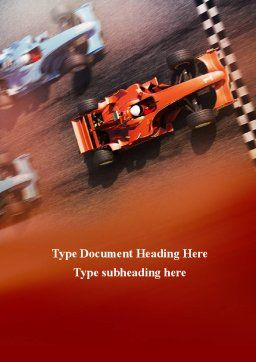 Formula One Championship Word Template, Cover Page, 09557, Sports — PoweredTemplate.com