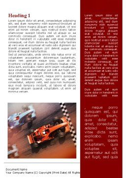 Formula One Championship Word Template, First Inner Page, 09557, Sports — PoweredTemplate.com