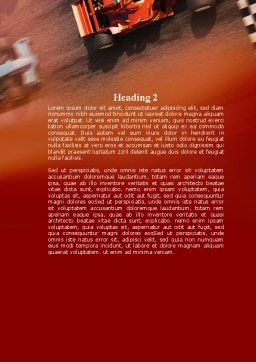 Formula One Championship Word Template, Second Inner Page, 09557, Sports — PoweredTemplate.com