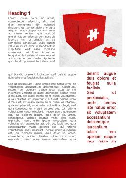 Red Cube Puzzle Word Template, First Inner Page, 09561, Consulting — PoweredTemplate.com