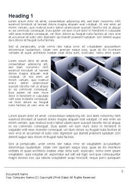 Office Space Cells Word Template, First Inner Page, 09562, Construction — PoweredTemplate.com