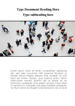 People Mob Word Template, Cover Page, 09563, People — PoweredTemplate.com