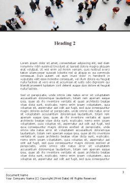 People Mob Word Template, Second Inner Page, 09563, People — PoweredTemplate.com