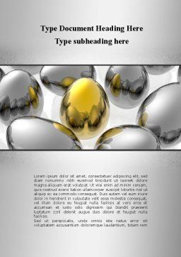 Golden Egg In Idea Nest Word Template, Cover Page, 09564, Consulting — PoweredTemplate.com