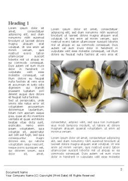 Golden Egg In Idea Nest Word Template, First Inner Page, 09564, Consulting — PoweredTemplate.com
