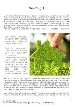 Green House Building Word Template, First Inner Page, 09565, Construction — PoweredTemplate.com