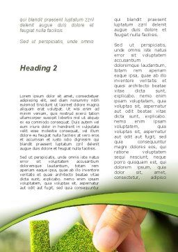 Green House Building Word Template, Second Inner Page, 09565, Construction — PoweredTemplate.com
