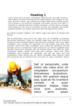 Builder On Construction Site Portrait Word Template, First Inner Page, 09566, Construction — PoweredTemplate.com