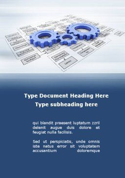 logistic Gears Word Template, Cover Page, 09568, Business — PoweredTemplate.com