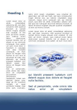 logistic Gears Word Template, First Inner Page, 09568, Business — PoweredTemplate.com