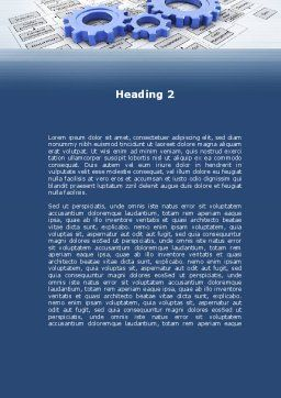 logistic Gears Word Template, Second Inner Page, 09568, Business — PoweredTemplate.com