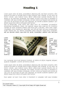 One Hundred Dollars Print Word Template, First Inner Page, 09569, Financial/Accounting — PoweredTemplate.com