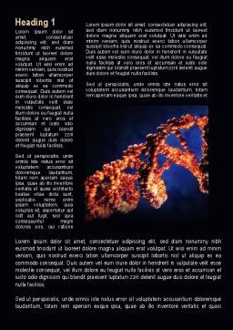 DNA Portrait Word Template, First Inner Page, 09572, Technology, Science & Computers — PoweredTemplate.com