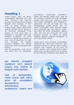 World In Touch Word Template, First Inner Page, 09575, Telecommunication — PoweredTemplate.com