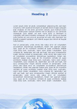 World In Touch Word Template, Second Inner Page, 09575, Telecommunication — PoweredTemplate.com