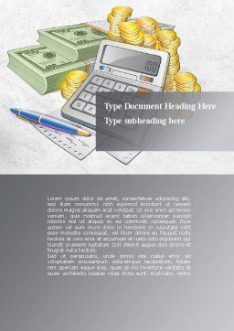 Financial Accountant Word Template, Cover Page, 09576, Financial/Accounting — PoweredTemplate.com