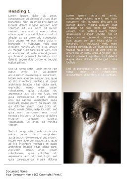 Portrait of Old Man Word Template, First Inner Page, 09578, Consulting — PoweredTemplate.com