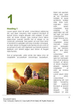 Morning At The Farm Word Template, First Inner Page, 09579, Agriculture and Animals — PoweredTemplate.com