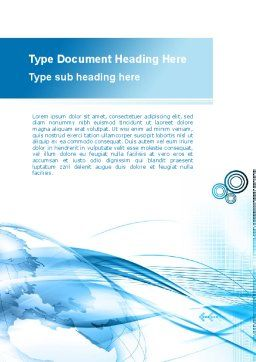 Blue Earth Word Template, Cover Page, 09581, Global — PoweredTemplate.com