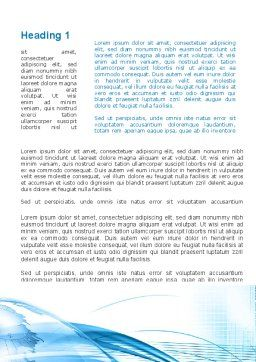 Blue Earth Word Template, First Inner Page, 09581, Global — PoweredTemplate.com