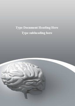 Human Cerebrum Word Template, Cover Page, 09582, Medical — PoweredTemplate.com