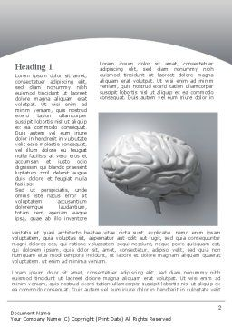 Human Cerebrum Word Template, First Inner Page, 09582, Medical — PoweredTemplate.com