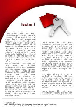 Red Bunch Of Keys Word Template, First Inner Page, 09583, Construction — PoweredTemplate.com
