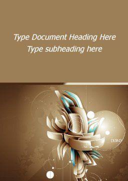 Art of Design Word Template, Cover Page, 09584, Art & Entertainment — PoweredTemplate.com