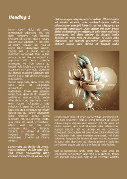 Art of Design Word Template, First Inner Page, 09584, Art & Entertainment — PoweredTemplate.com