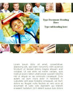 Primary School Kids Word Template, Cover Page, 09587, Education & Training — PoweredTemplate.com