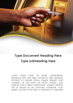 Cashpoint Word Template, Cover Page, 09589, Financial/Accounting — PoweredTemplate.com