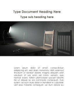 Interrogation Cell Word Template, Cover Page, 09590, Legal — PoweredTemplate.com