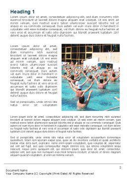 Sanatorium Word Template, First Inner Page, 09591, Sports — PoweredTemplate.com