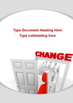 Make A Change Word Template, Cover Page, 09593, Consulting — PoweredTemplate.com