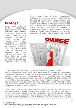 Make A Change Word Template, First Inner Page, 09593, Consulting — PoweredTemplate.com