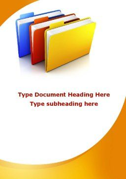 Document Cases Word Template, Cover Page, 09594, Business Concepts — PoweredTemplate.com