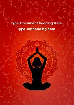 Meditation Yoga Word Template, Cover Page, 09595, Sports — PoweredTemplate.com