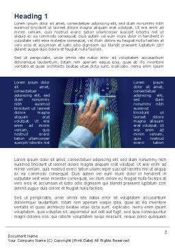 High Tech Management Tool Word Template, First Inner Page, 09596, Technology, Science & Computers — PoweredTemplate.com