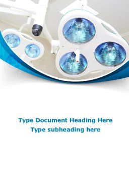Medical Lamp Word Template, Cover Page, 09598, Medical — PoweredTemplate.com
