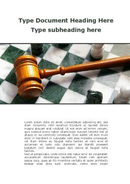 Gavel Word Template, Cover Page, 09599, Legal — PoweredTemplate.com