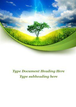 Lonely Tree Word Template, Cover Page, 09600, Nature & Environment — PoweredTemplate.com
