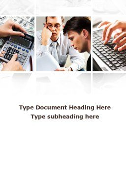 Accountant Job Word Template Cover Page