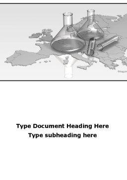 Laboratory Equipment of Europe Word Template Cover Page